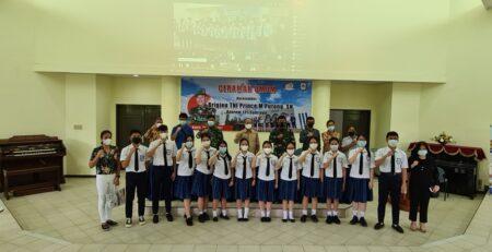 Ceramah Umum Danrem 131 Santiago Prince Meyer Putong SMA Lokon SMP Lokon LOSNITO Sekolah Berasrama