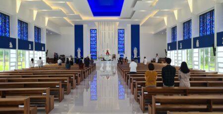 Misa Minggu Palma Gereja St. Nikolaus SMP Lokon SMA Lokon Sekolah Berasrama Tomohon LOSNITO
